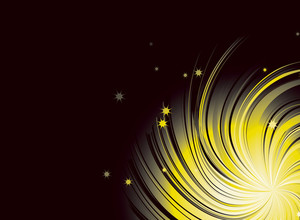 Yellow Star Vector Background.