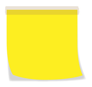 Yellow Sticky Note - Vector Background