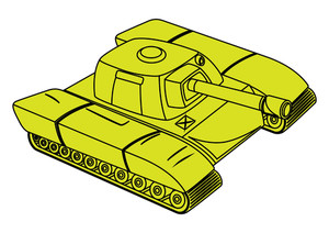 Yellow Tank Vector