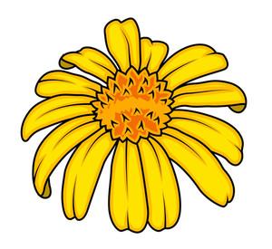Yellow Vector Flower Design