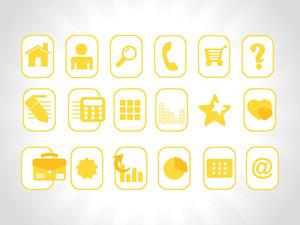 Yellow Vector Icons