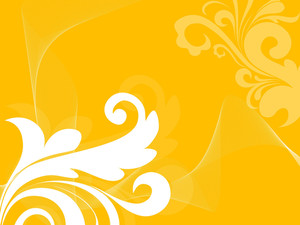 Yellow Wave Background With Floral