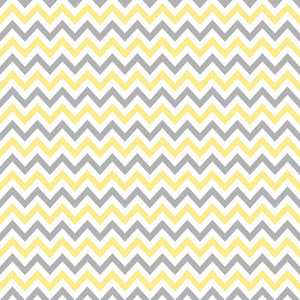 Yellow, White, And Grey Chevron Pattern