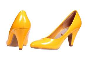 Yellow Women's Heel Shoes