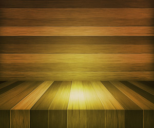 Yellow Wooden Stage Background