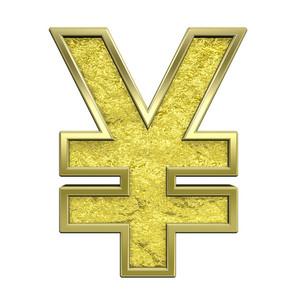 Yen Sign From Chrome Cast Alphabet Set