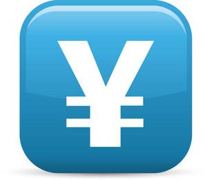 Yen Symbol Elements Glossy Icon