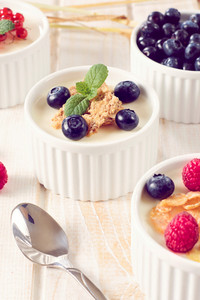 Yogurt With Berry Fruits