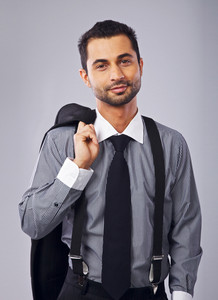 Young and Successful Businessman in Formal Suit