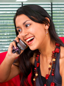 Young Asian Woman On A Phone