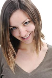 Young beautiful positive woman