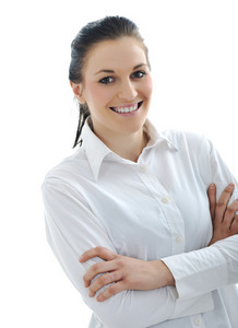 Young beauty woman with white shirt