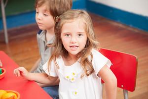 Young girl in kindergarten