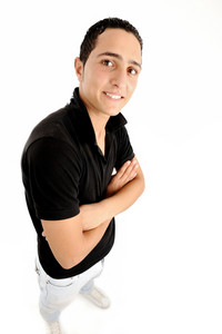 Young guy with folded arms