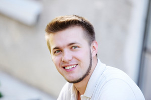 Young man outdoors portrait