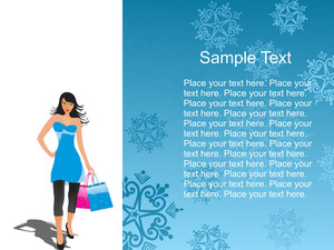 Young Shopping Woman On White With Nice Place For Text