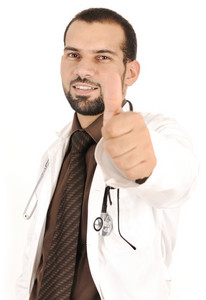 Young successful doctor, medical working in hospital