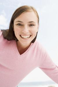 Young woman having fun outside