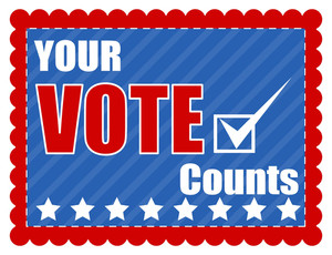 Your Vote Counts  Election Day Vector Illustration