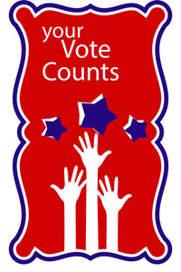 Your Vote Counts  Raising Hands Concept Election Day Vector Illustration