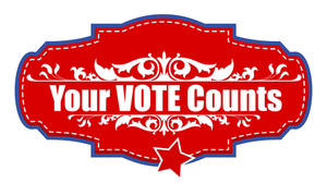 Your Vote Counts   Usa Election Day Vector Illustration