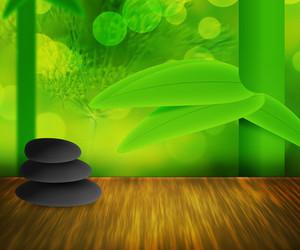 Zen Stones Green Background