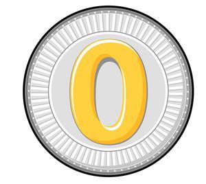 Zero Digit Silver Coin