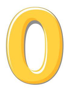 Zero Digit Vector Shape
