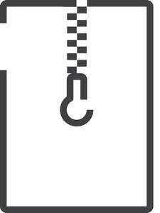 Zip Minimal Icon