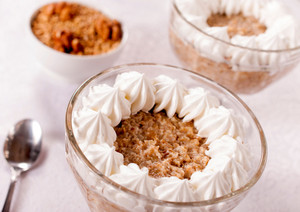 Oatmeal With Whipped Cream