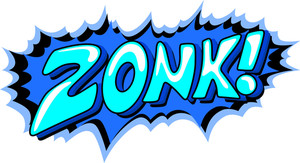 Zonk - Comic Expression Vector Text