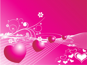 Zooming Heart On Floral Pink Background