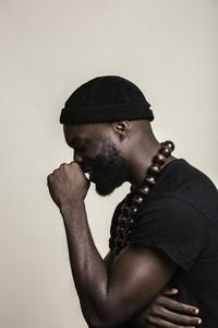 African American man posing