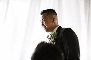 Asian groom on his wedding day