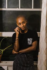 Black Chef thinking