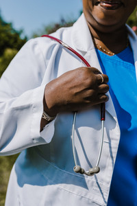Black female physician