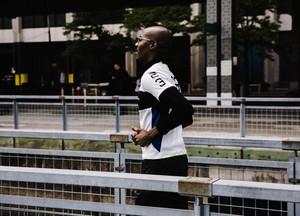 Black man running