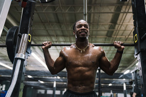 Black man working out