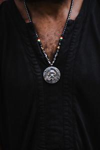 black man's necklace