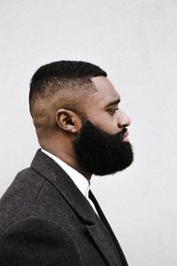 Black man's side profile