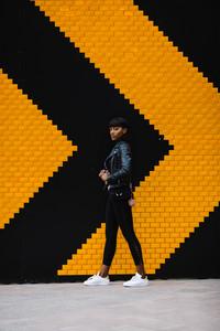 Black woman posing