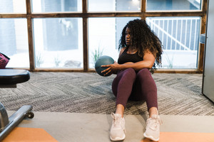 Black woman working out