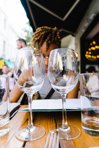 date with wine at a nice restaurant