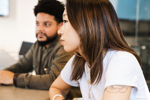 Diverse and innovative creators discuss and brainstorm ideas for engagement