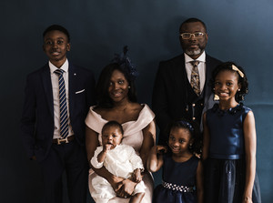 family portrait of a black family