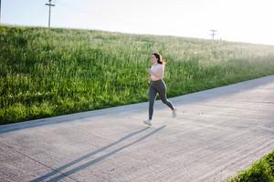 female runner goes on a jog