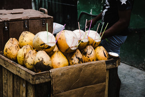 fresh coconut on the streets