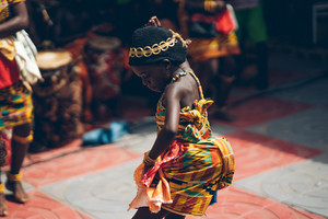 Ghanaian woman dancing