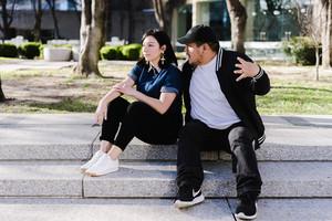 girlfriend gets annoyed with boyfriend