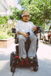 Latina woman in wheelchair